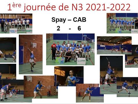 Résultat 1ère journée de National 3 2021-2022