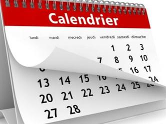 Les calendriers sont connus