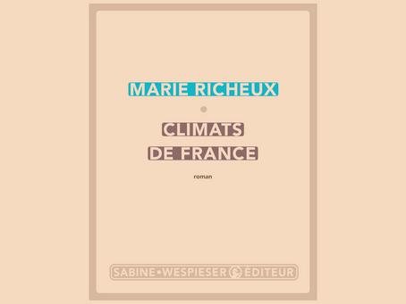 Climats de France, Marie Richeux - Sabine Wespieser Éditeur