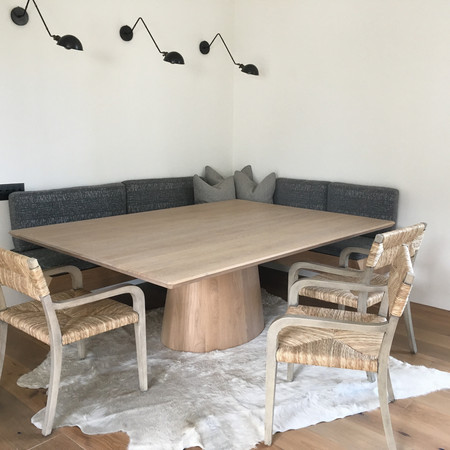 Dining Table with Oval Base