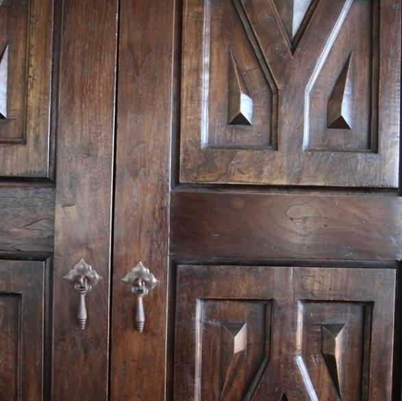 Hand-carved Walnut Doors