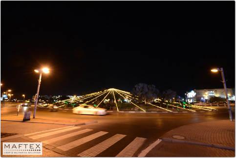 תאורה דקורטיבית בכיכר באילת