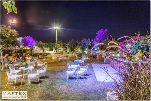 תאורה מיוחדת לגן אירועים