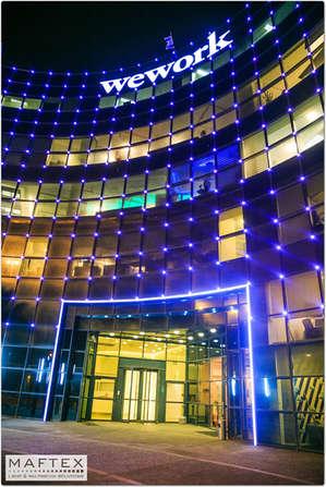 תאורה אדריכלית לבניין משרדים