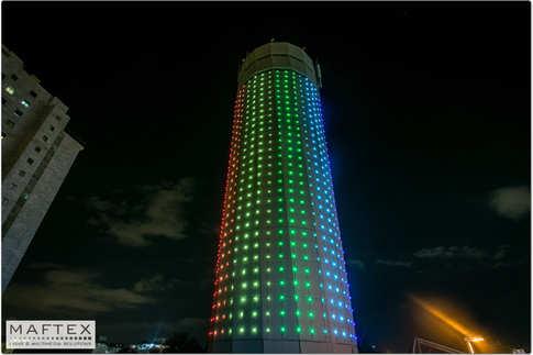 water tower lighting