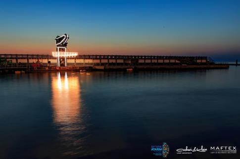 תאורה לקישוט נמל תל אביב