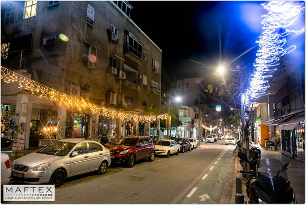 תאורה לקישוט רחוב שנקין