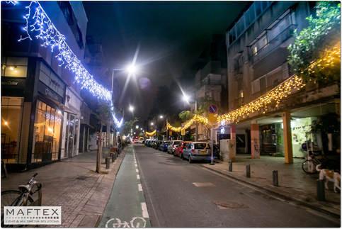 רחוב שנקין - תאורה לקישוט