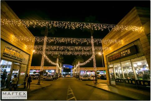 קישוטי תאורה למרכז קניות