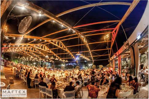 תאורה בגן אירועים - עיצוב ותכנון