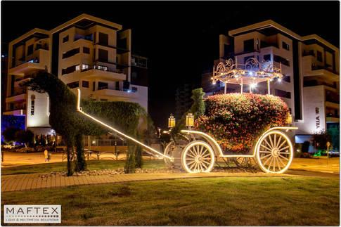 כיכר העגלה חדרה - תאורה