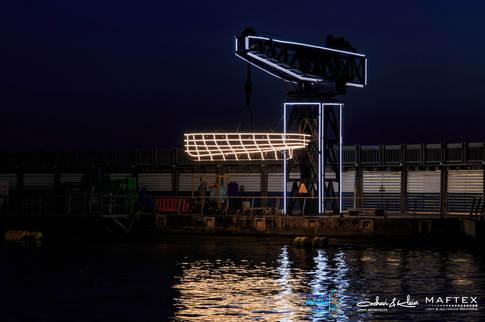 תאורה לקישוט בנמל תל אביב