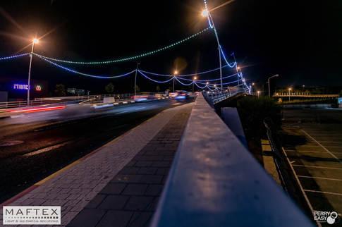 מיצג תאורה לגשר - פיקסל לד