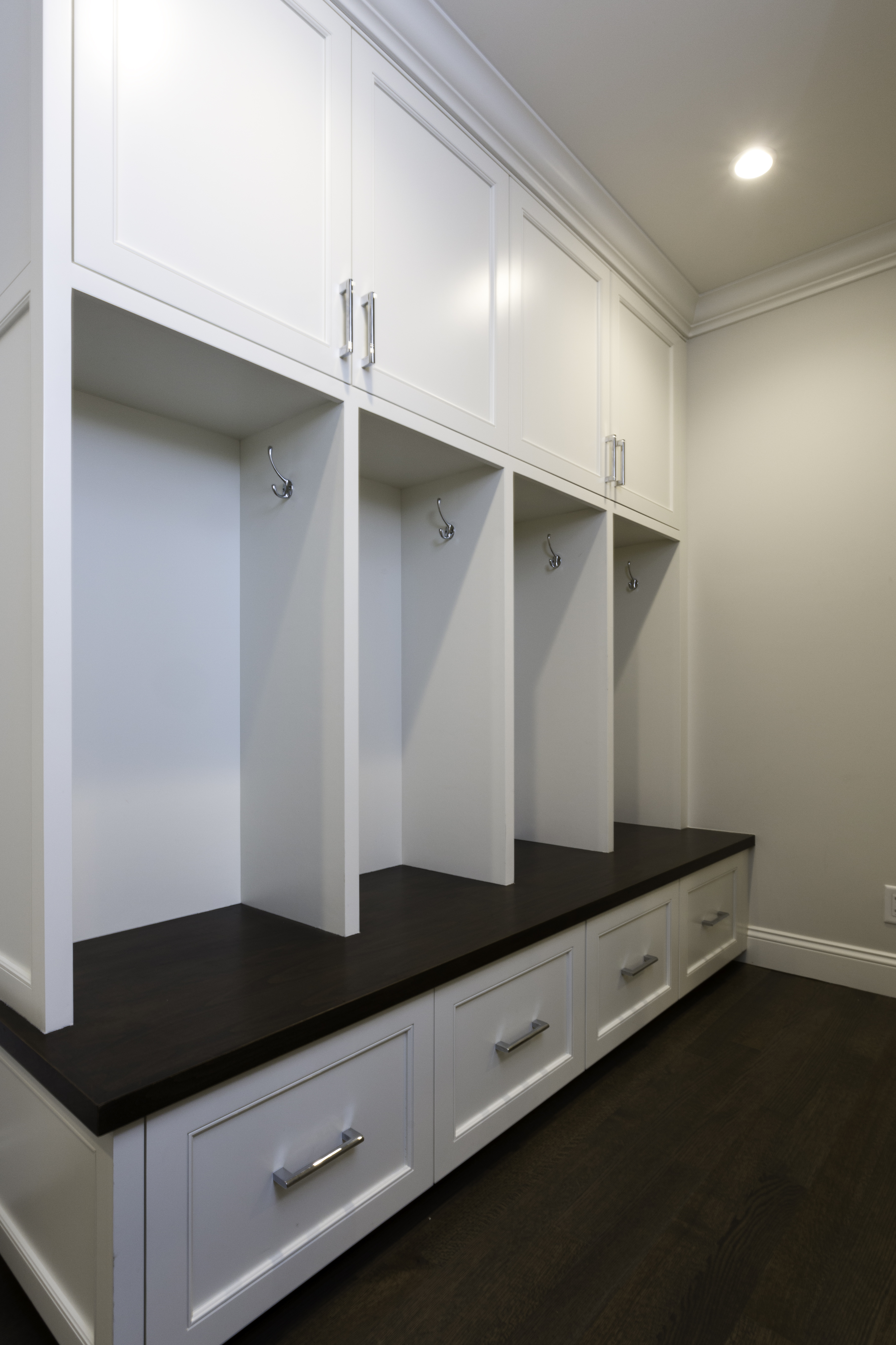 Custom Mudroom Built in coat rack_