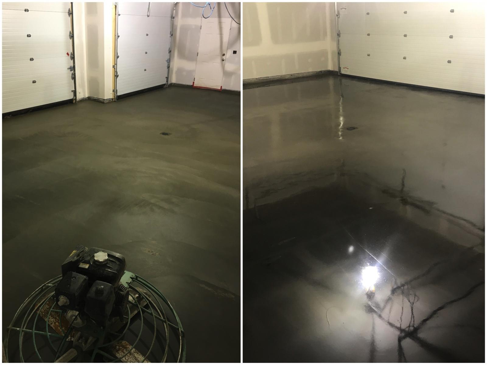 sealed concrete slab