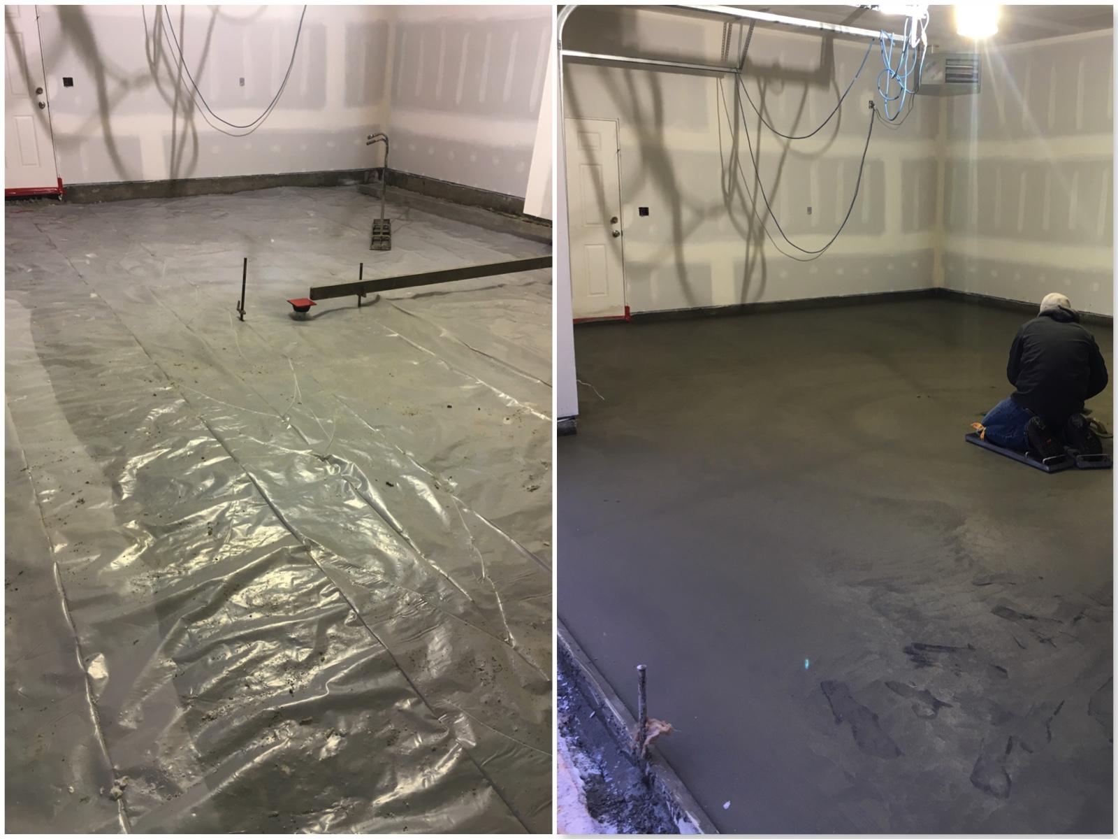 poured garage slab