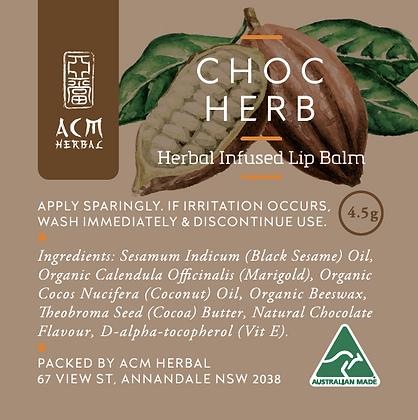 Choc Herb Lip Balm 4.5g