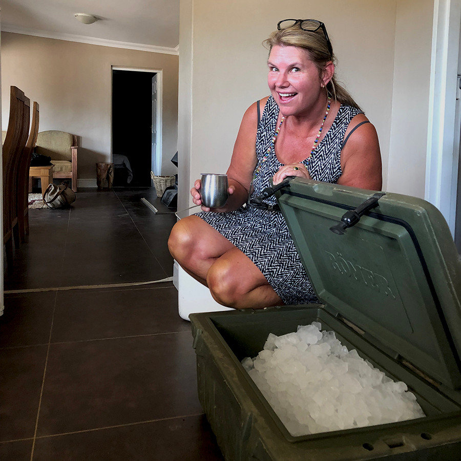 It was super hot in the Karoo and we were ready to chill.  Our ice was delivered by Kuzuko Lodge just in time.