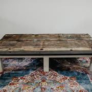 Marine wood coffee table