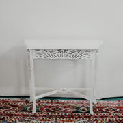 White balinese hall table