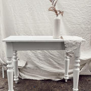 White rustic signing table