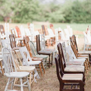 Mismatched timber chairs
