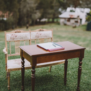 Rustic signing table