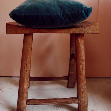 Velvet emerald cushion