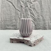 Geo rippled vase