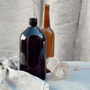 Assorted amber bottles