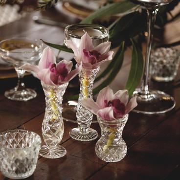 Crystal vase/votives