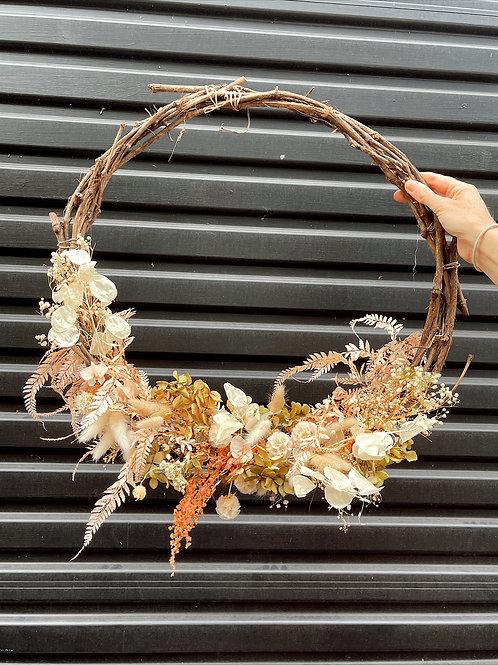 Everlasting wreath medium autumn