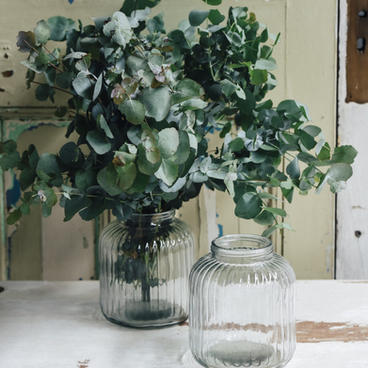 Blown art deco vases