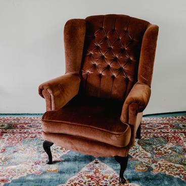 Dusty pink armchair