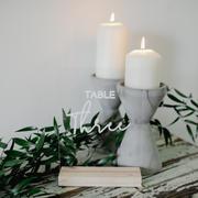 Concrete candle pillar