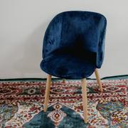 Velvet tub chair blue