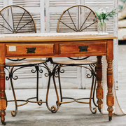 Antique signing table