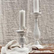 White washed candle pillars