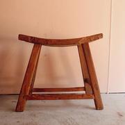 Rustic saddle stool