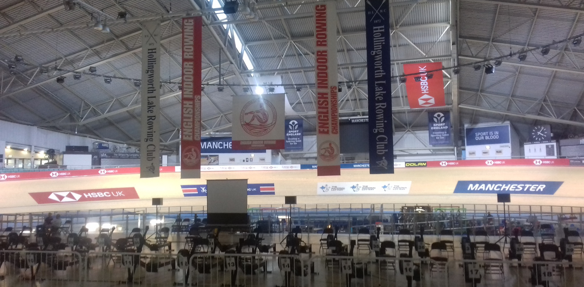 Manchester Velodrome setup