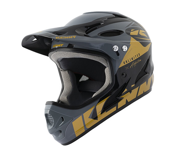 BMX Down Hill Helmet Black Gold 2021