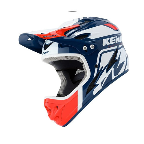 Helmet Downhill White Navy Red