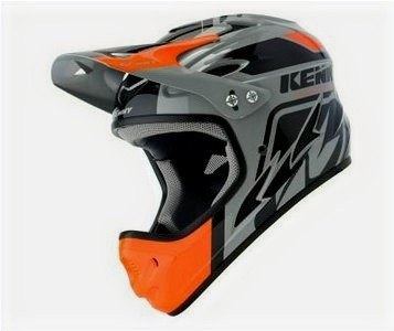 Helmet Downhill Black Orange