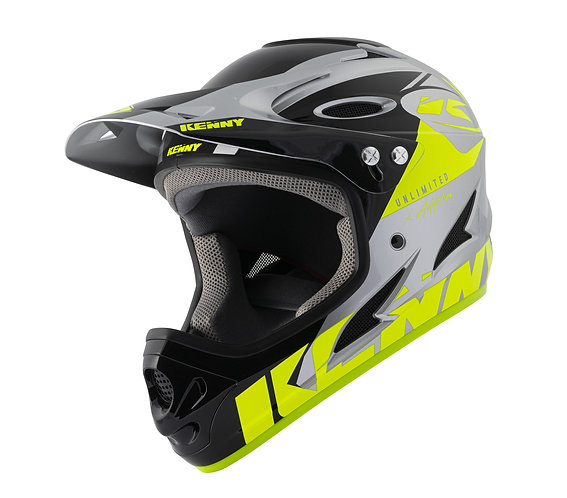 Kenny Down Hill Helmet Neon Yellow Silver 2021