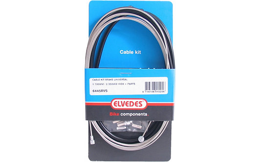Elvedes Cable Kit Brake Universal - 1700MM / 2350MM INOX + Parts
