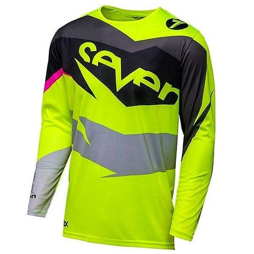 Seven Youth Annex Ignite Jersey Black & Fluo Yellow