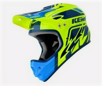 Helmet Downhill Blue Neon Yellow