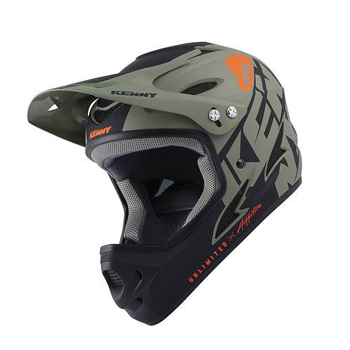 Down Hill Helmet Graphic Dark Green 2022