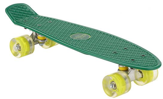 AMIGO skateboard met ledverlichting 55,5 cm groen/lime
