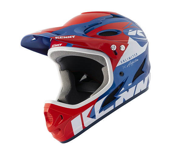 Kenny Down Hill Helmet Red Blue 2021